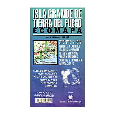 ISLA GRANDE DE TIERRA DEL FUEGO MAP