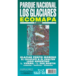 LOS GLACIARES NATIONAL PARK MAP