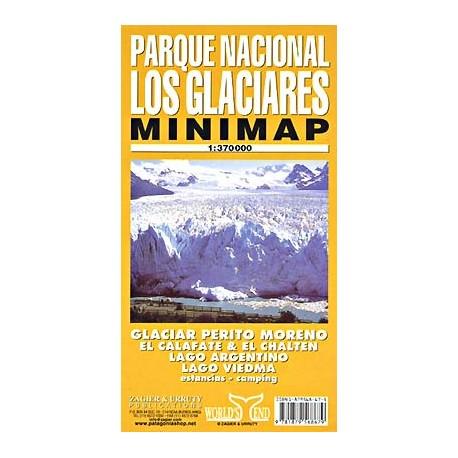 LOS GLACIARES NATIONAL PARK MINIMAP