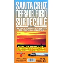 SANTA CRUZ / TIERRA DEL FUEGO / SOUTH CHILE MAP