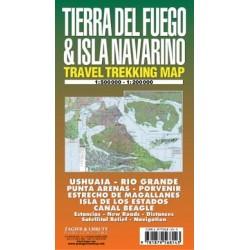 TIERRA DEL FUEGO & ISLA NAVARINO MAP