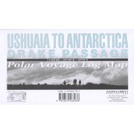 USHUAIA TO ANTARCTICA - DRAKE PASSAGE MAP
