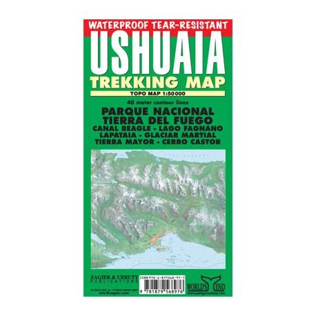 USHUAIA TREKKING MAP