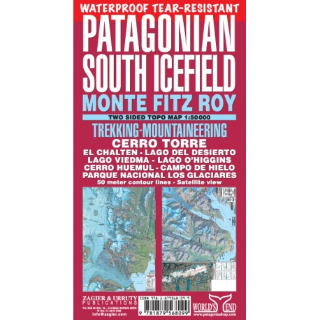 PATAGONIAN SOUTH ICEFIELD MAP