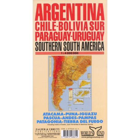ARGENTINA & SURROUNDINGS MAP